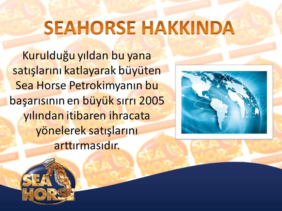 SEAHORSE HAKKINDA