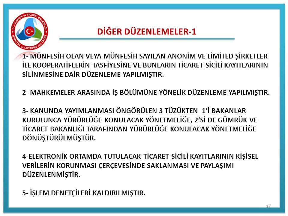 DİĞER DÜZENLEMELER-1