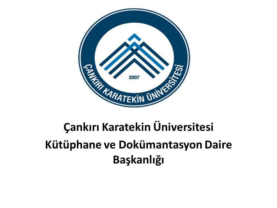 . Çankırı Karatekin Üniversitesi