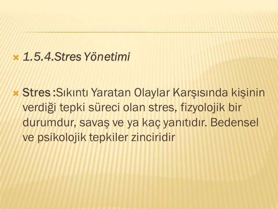 1.5.4.Stres Yönetimi