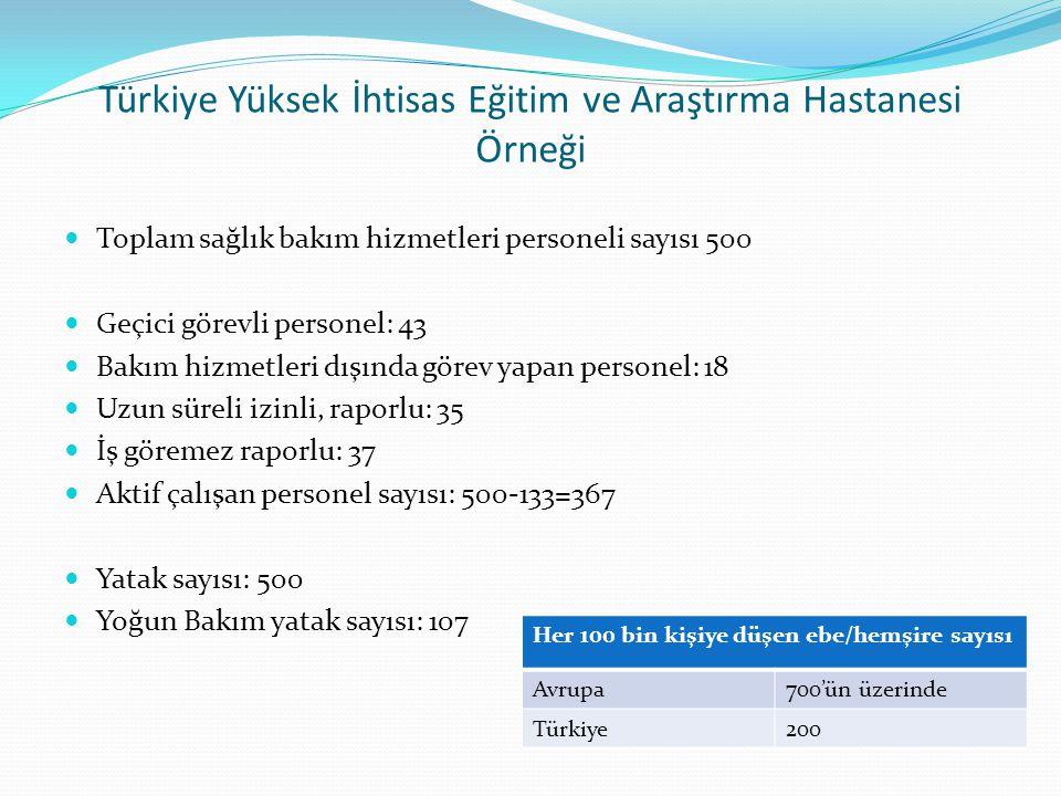 Türkiye Yüksek İhtisas Eğitim ve Araştırma Hastanesi Örneği