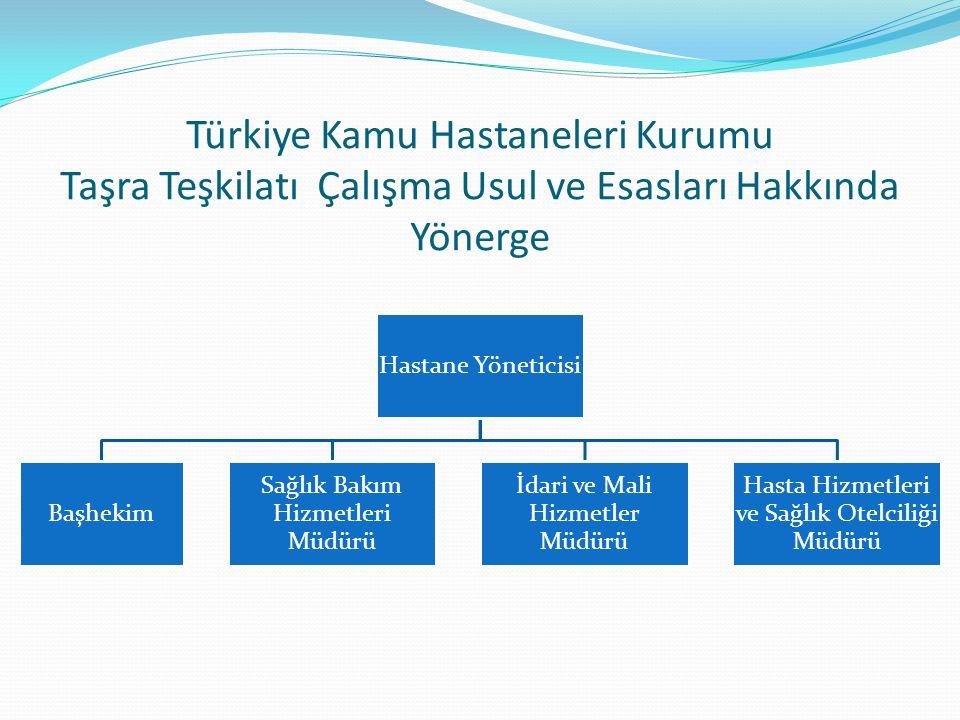Türkiye Kamu Hastaneleri Kurumu Taşra Teşkilatı Çalışma Usul ve Esasları Hakkında Yönerge