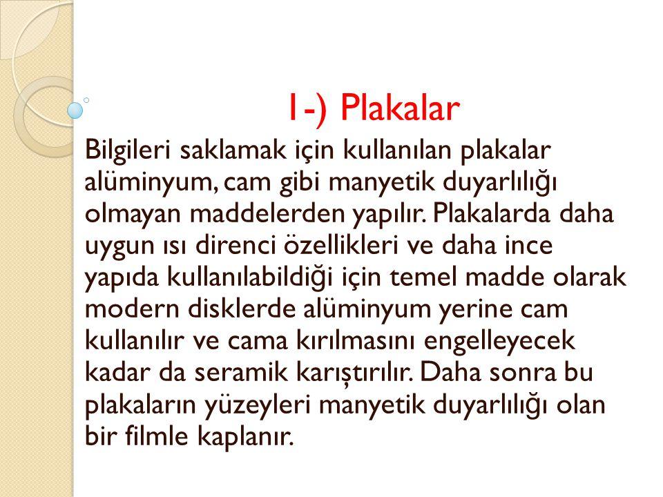 1-) Plakalar
