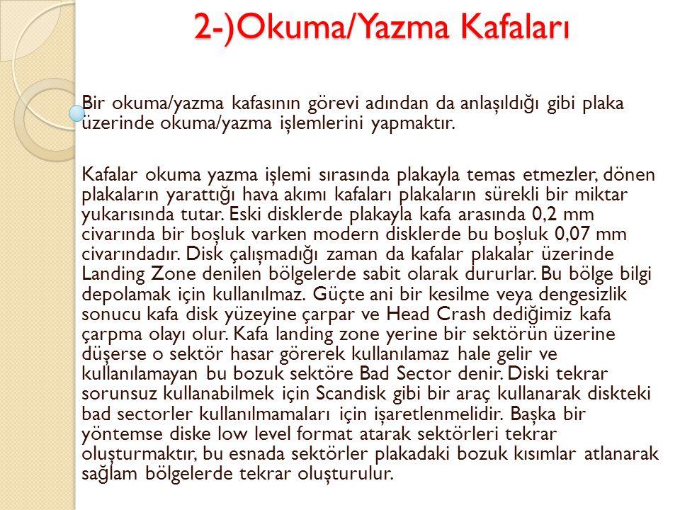 2-)Okuma/Yazma Kafaları