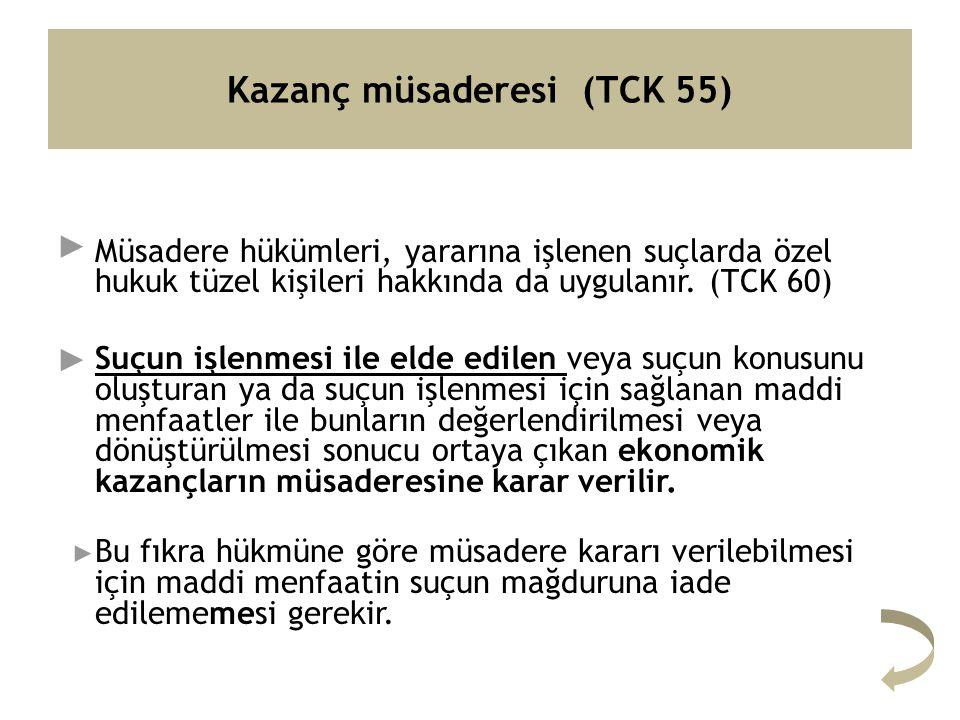 Kazanç müsaderesi (TCK 55)