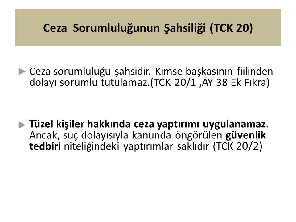 Ceza Sorumluluğunun Şahsiliği (TCK 20)
