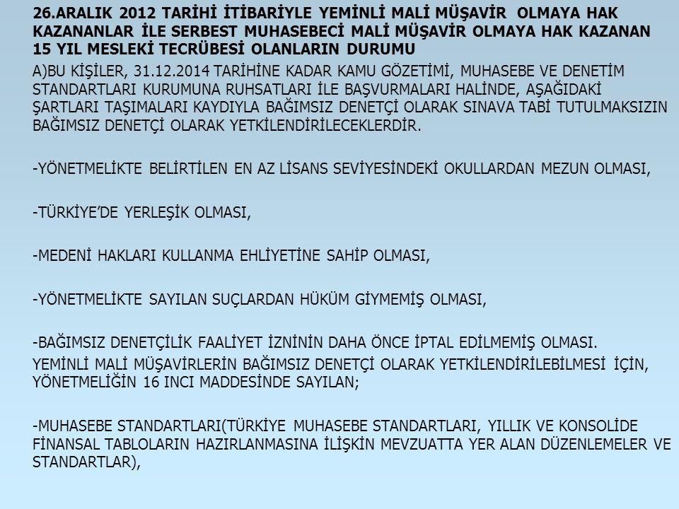 -TÜRKİYE'DE YERLEŞİK OLMASI,