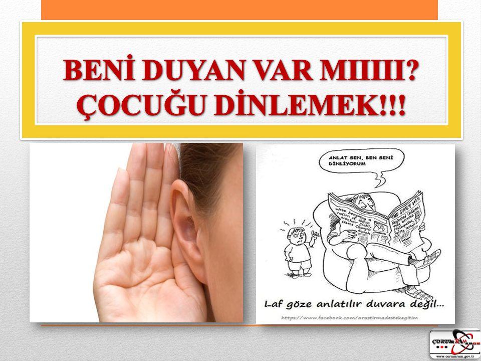 BENİ DUYAN VAR MIIIII ÇOCUĞU DİNLEMEK!!!