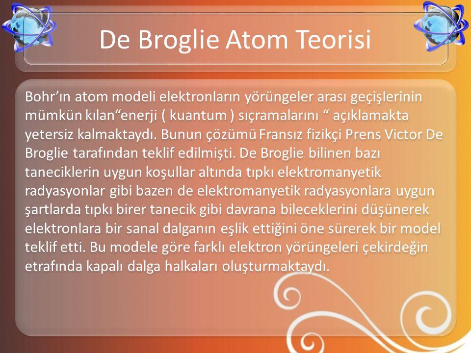 De Broglie Atom Teorisi