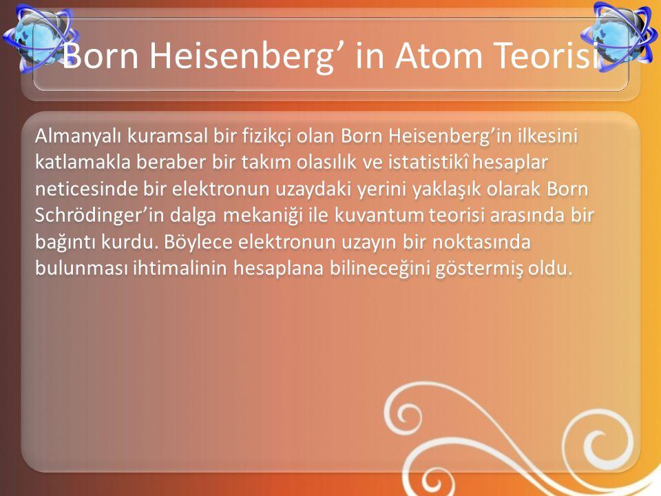 Born Heisenberg' in Atom Teorisi