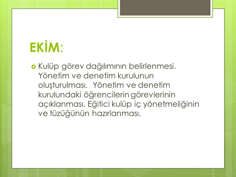 EKİM:
