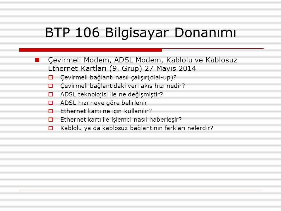 BTP 106 Bilgisayar Donanımı