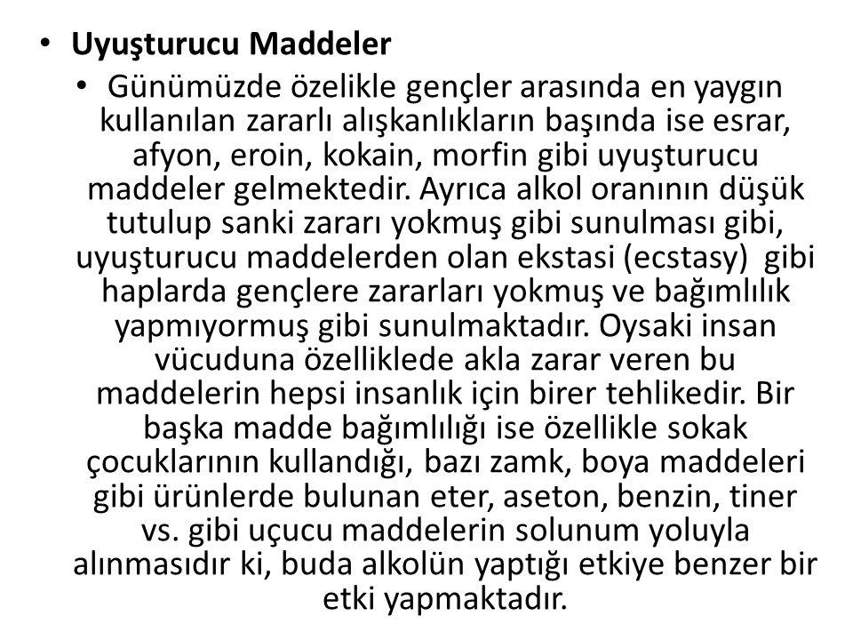 Uyuşturucu Maddeler