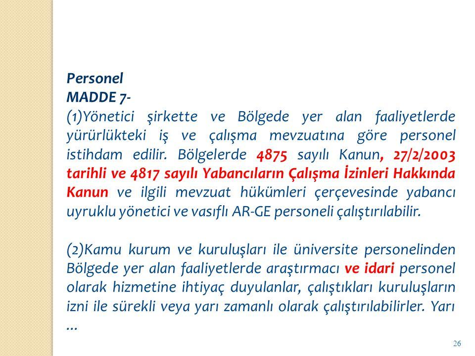 Personel MADDE 7-