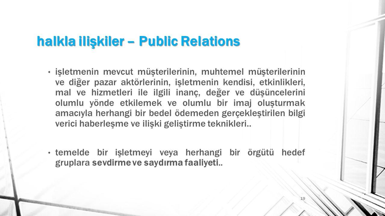 halkla ilişkiler – Public Relations