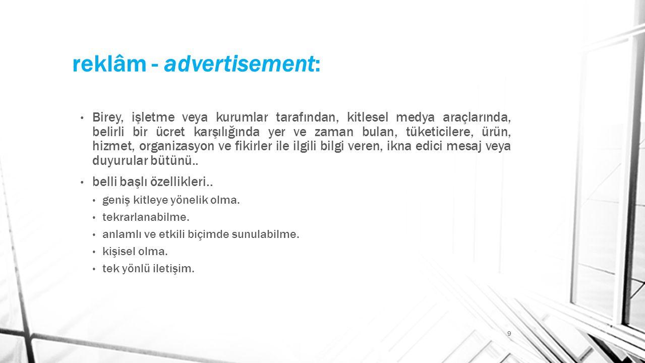 reklâm - advertisement: