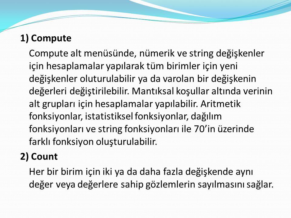 1) Compute