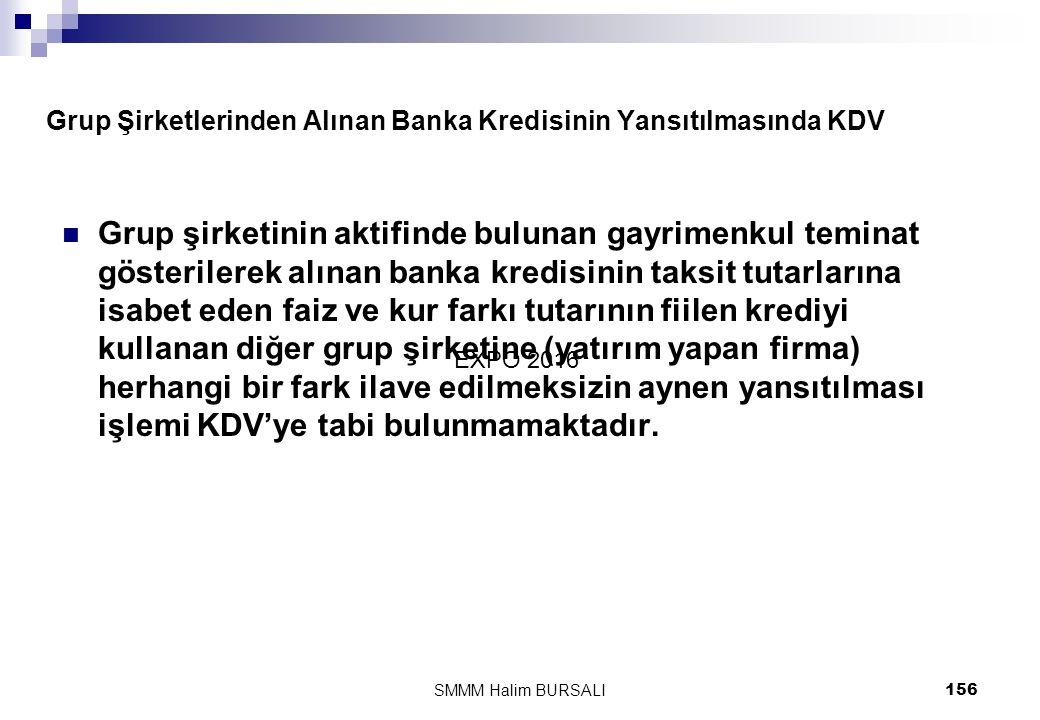 Grup Şirketlerinden Alınan Banka Kredisinin Yansıtılmasında KDV
