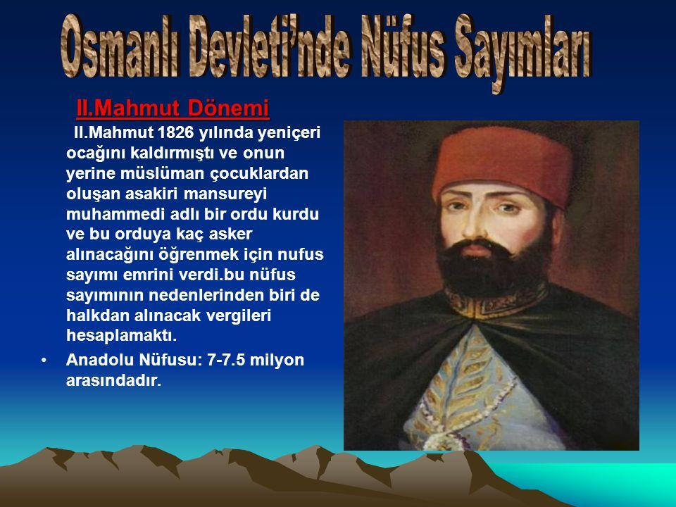 Osmanlı Devleti'nde Nüfus Sayımları
