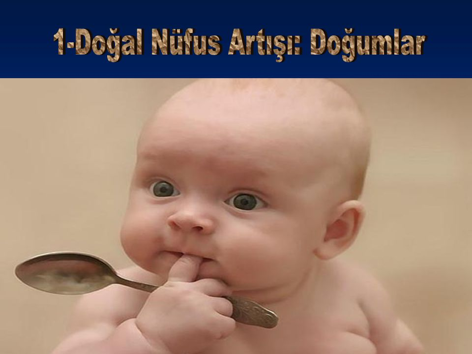 1-Doğal Nüfus Artışı: Doğumlar