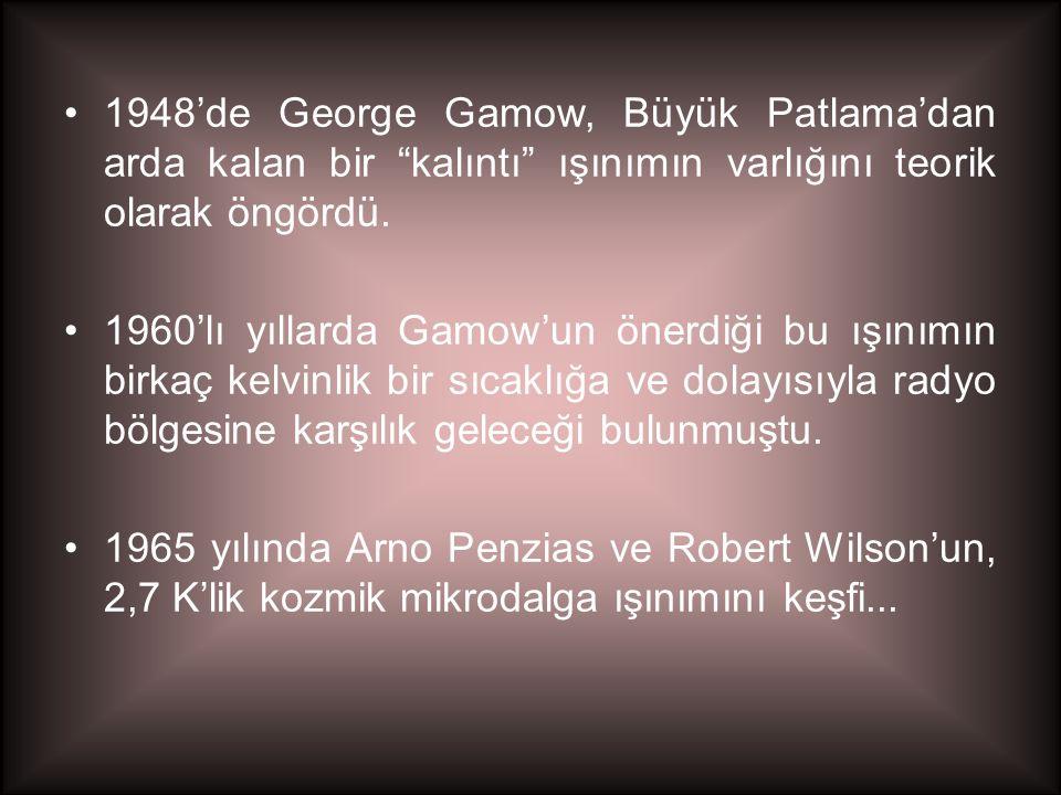 1948'de George Gamow, Büyük Patlama'dan arda kalan bir kalıntı ışınımın varlığını teorik olarak öngördü.
