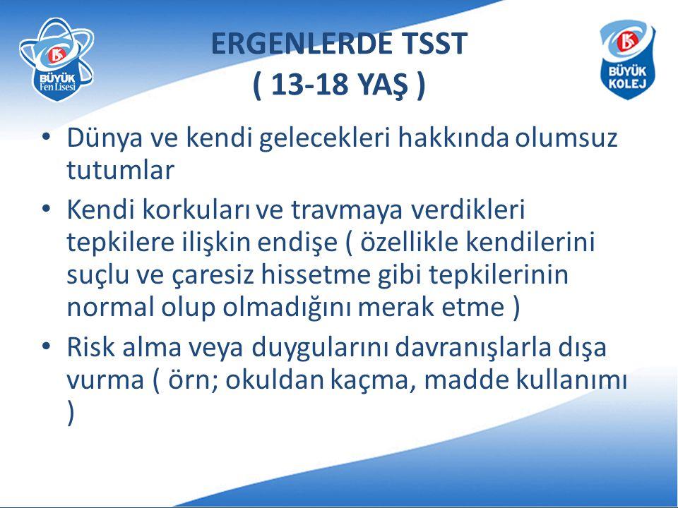 ERGENLERDE TSST ( 13-18 YAŞ )