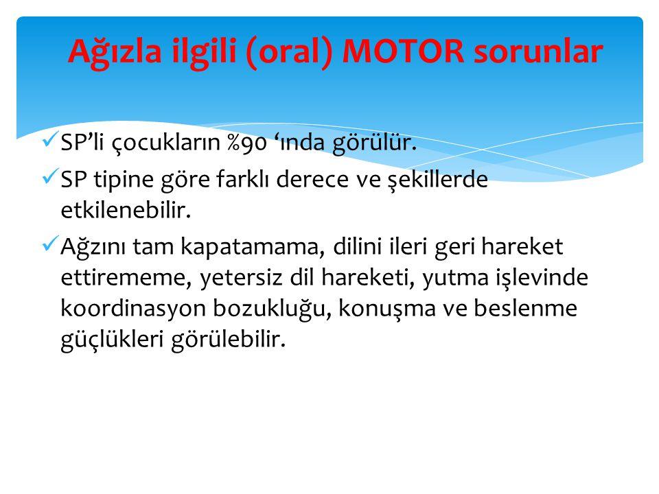 Ağızla ilgili (oral) MOTOR sorunlar
