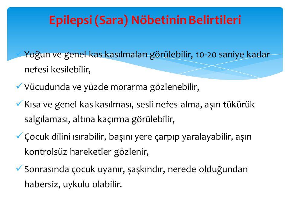 Epilepsi (Sara) Nöbetinin Belirtileri