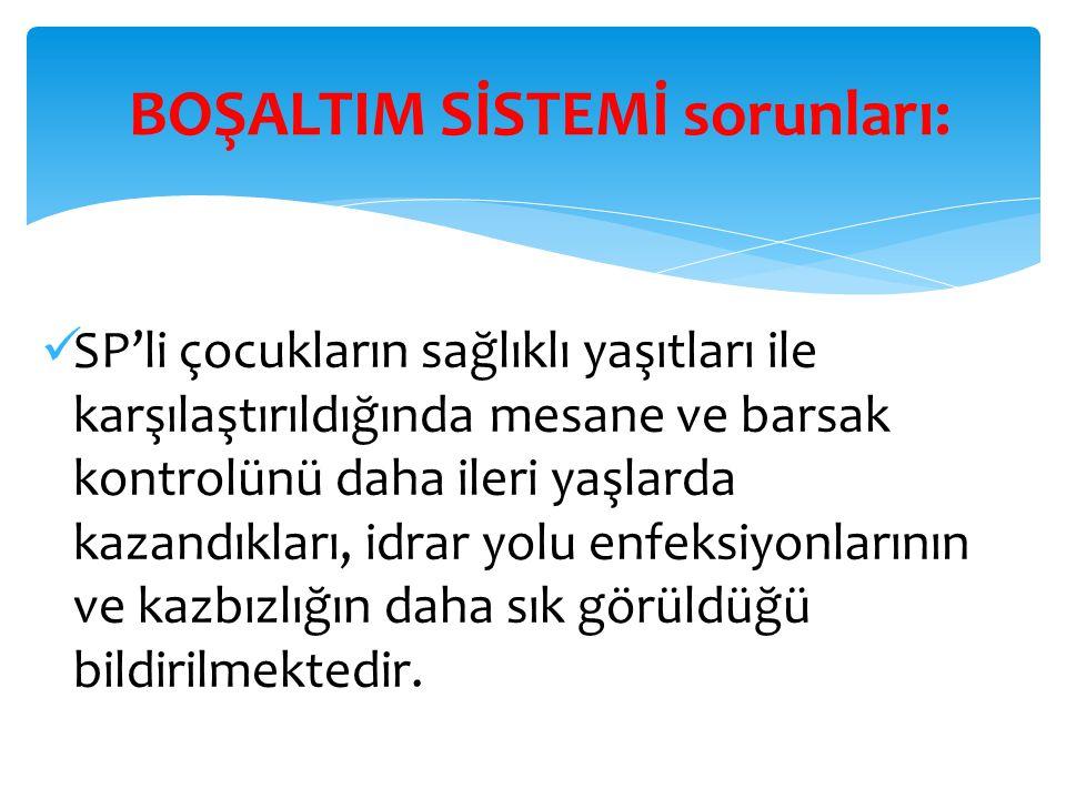 BOŞALTIM SİSTEMİ sorunları: