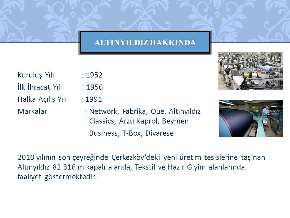 AltINYILDIZ HAKKINDA