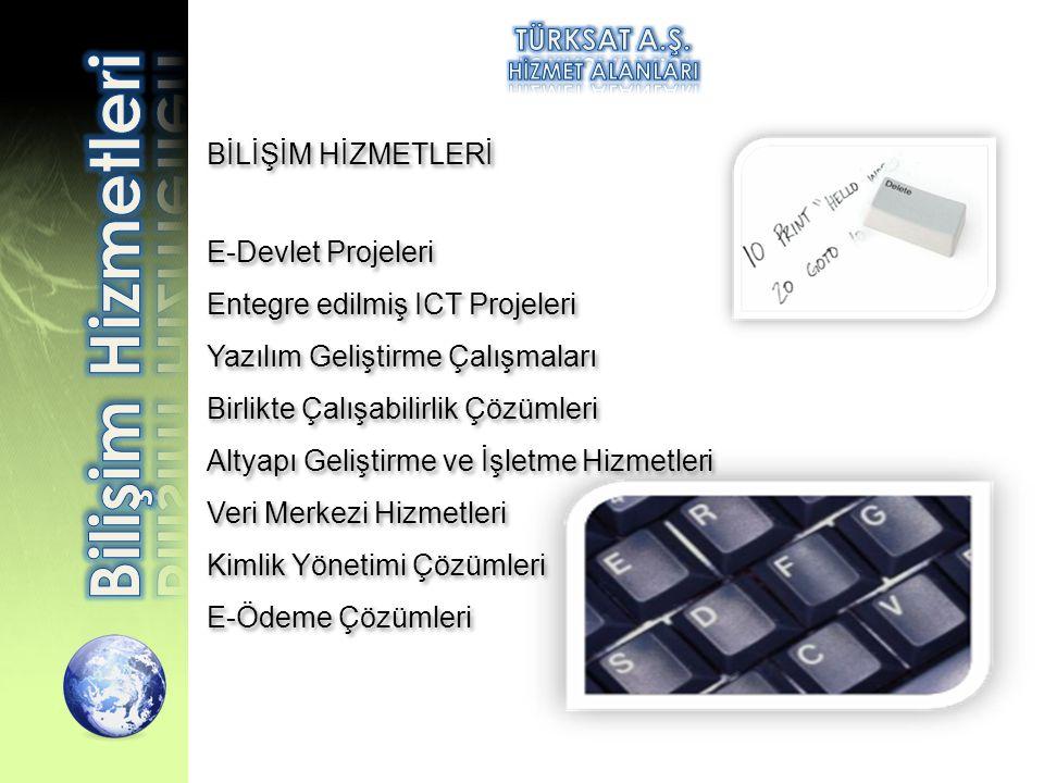 Bilişim Hizmetleri TÜRKSAT A.Ş. BİLİŞİM HİZMETLERİ E-Devlet Projeleri