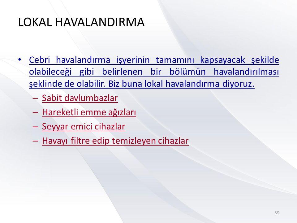 LOKAL HAVALANDIRMA