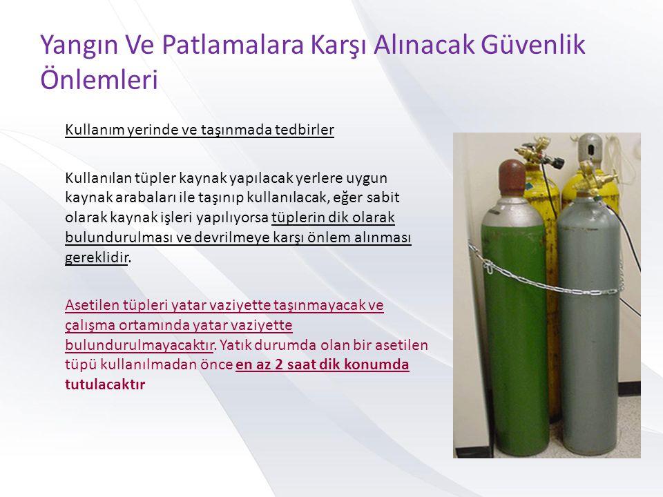 Yangın Ve Patlamalara Karşı Alınacak Güvenlik Önlemleri