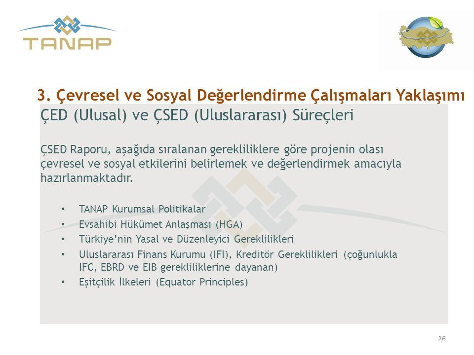 3. Çevresel ve Sosyal Değerlendirme Çalışmaları Yaklaşımı