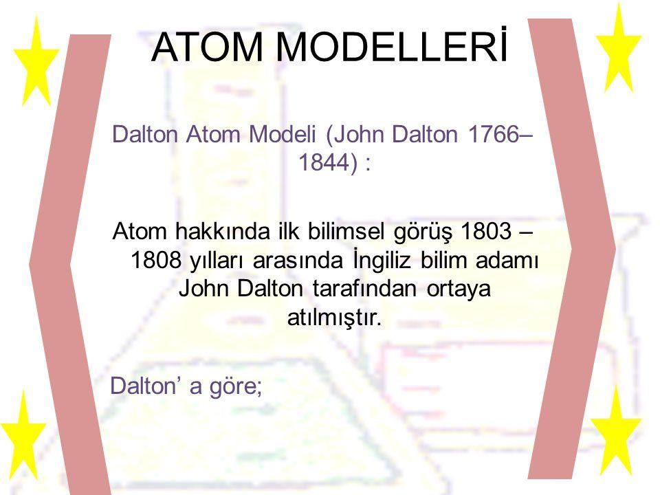 ATOM MODELLERİ
