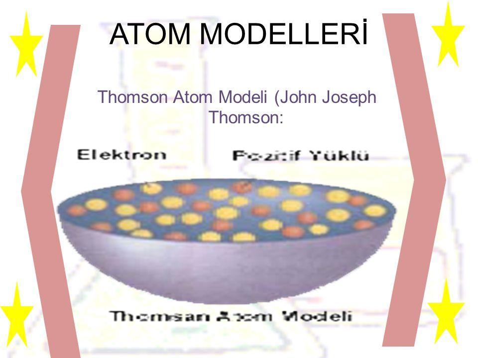 Thomson Atom Modeli (John Joseph Thomson: