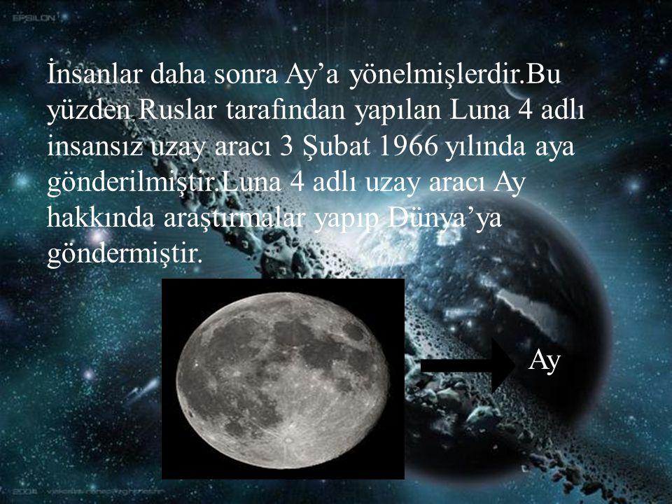 İnsanlar daha sonra Ay'a yönelmişlerdir