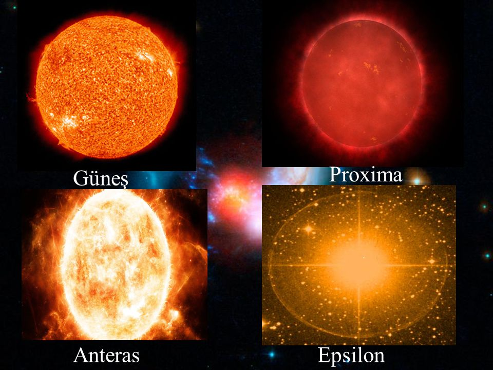 Proxima Güneş Anteras Epsilon