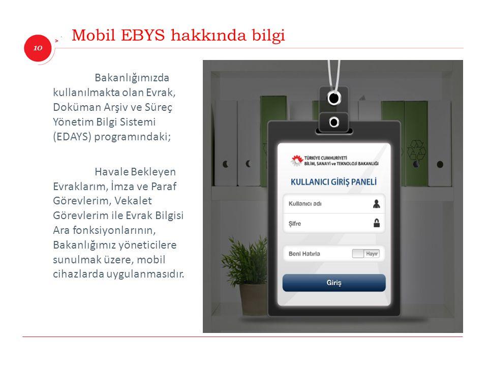 Mobil EBYS hakkında bilgi