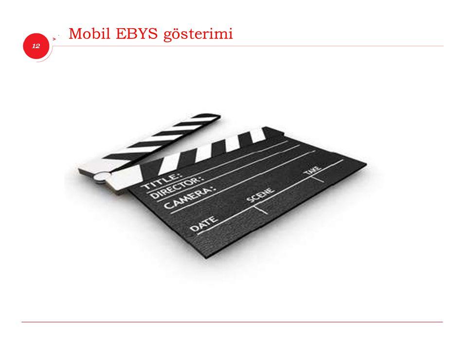 Mobil EBYS gösterimi
