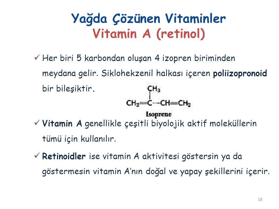 Yağda Çözünen Vitaminler Vitamin A (retinol)