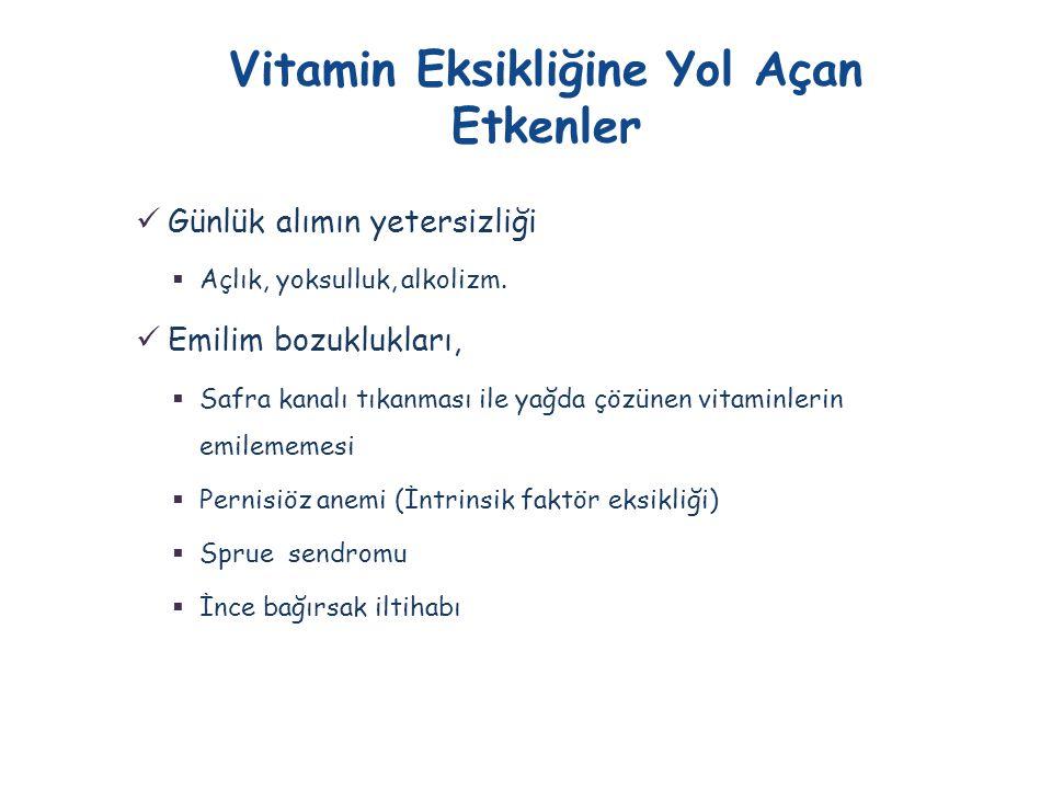Vitamin Eksikliğine Yol Açan Etkenler