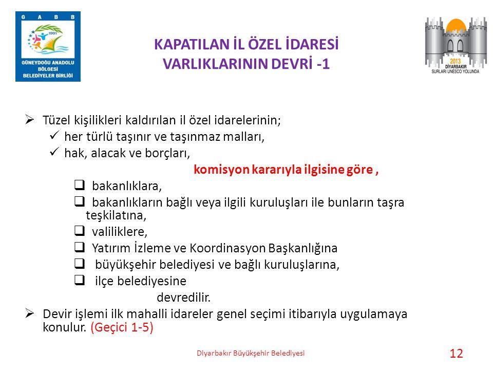 KAPATILAN İL ÖZEL İDARESİ VARLIKLARININ DEVRİ -1