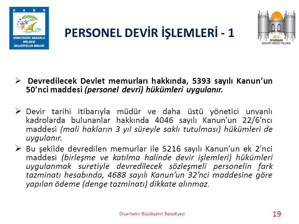 PERSONEL DEVİR İŞLEMLERİ - 1