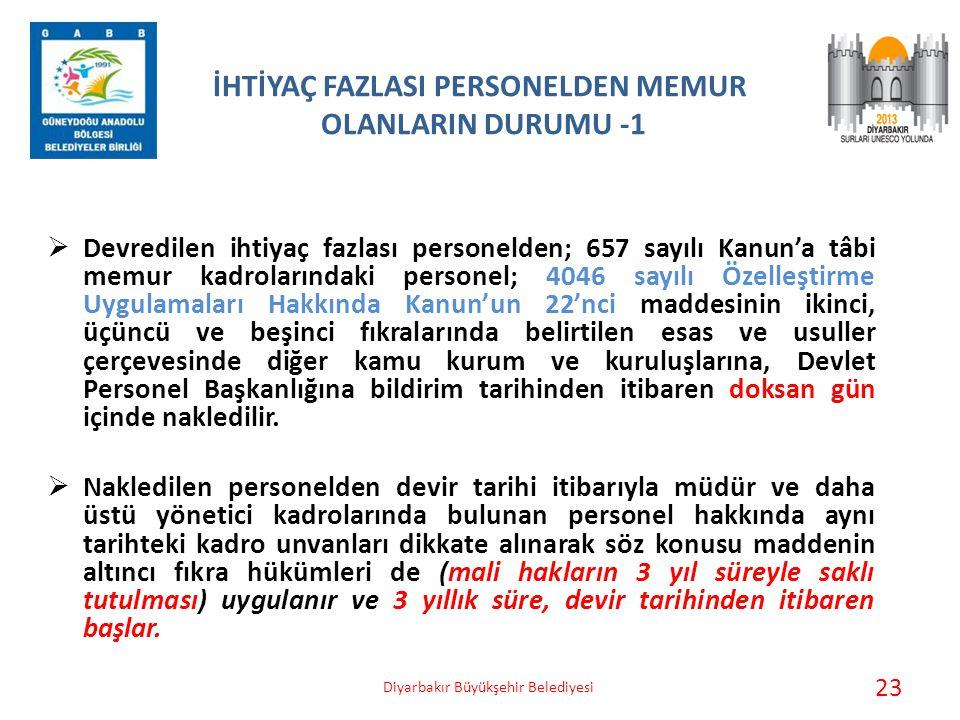 İHTİYAÇ FAZLASI PERSONELDEN MEMUR OLANLARIN DURUMU -1