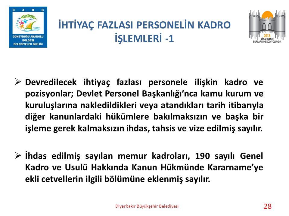 İHTİYAÇ FAZLASI PERSONELİN KADRO İŞLEMLERİ -1