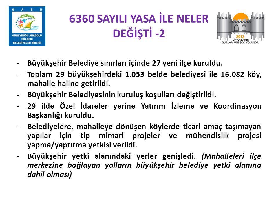 6360 SAYILI YASA İLE NELER DEĞİŞTİ -2