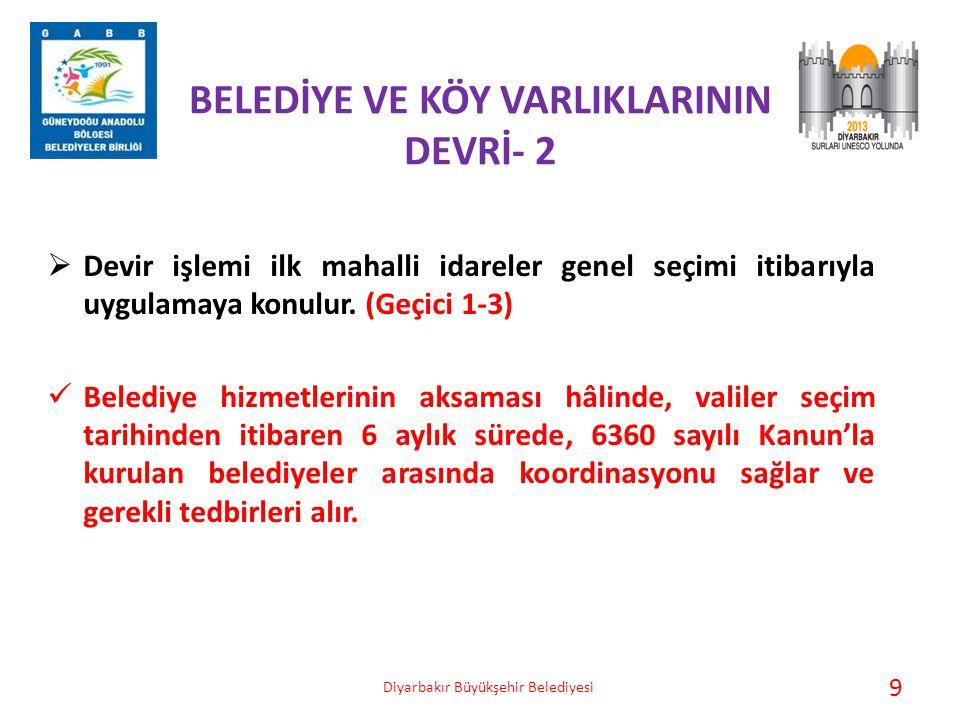 BELEDİYE VE KÖY VARLIKLARININ DEVRİ- 2