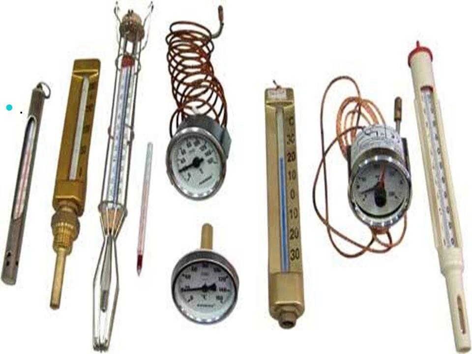 Sıcaklık termometre ile ölçülür.