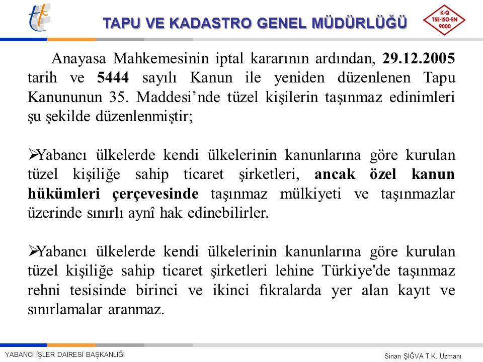 Anayasa Mahkemesinin iptal kararının ardından, 29. 12